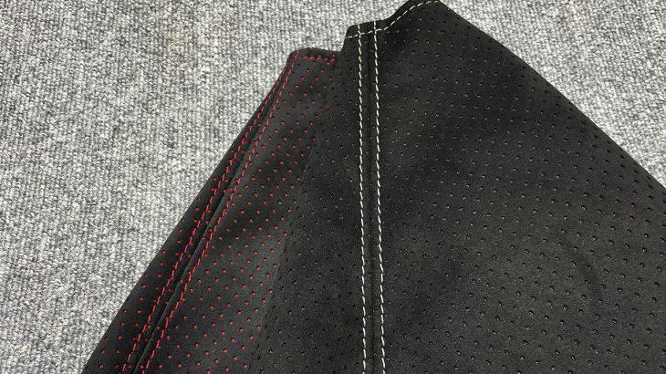GRヤリス用シフト・サイドブレーキブーツに新パターンを試作してみました